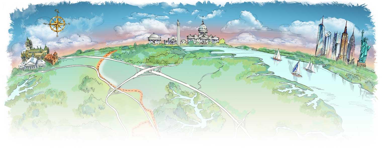 Map Illustration by Rabinky Art, LLC