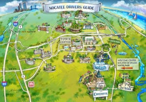 NOCATEE DRIVERS GUIDE Map Illustration by Maria Rabinky