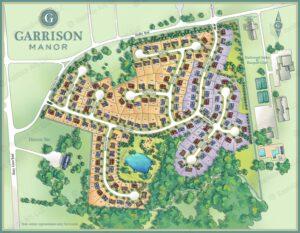 Garrison Manor Site Plan Development Map Illustration by Maria Rabinky