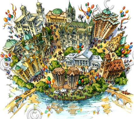 Richmond, VA Illustrated Maps by Maria Rabinky