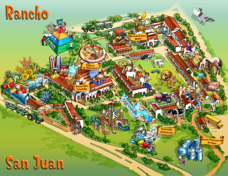 Rancho San Juan Amusement Park Map Illustration by Maria Rabinky