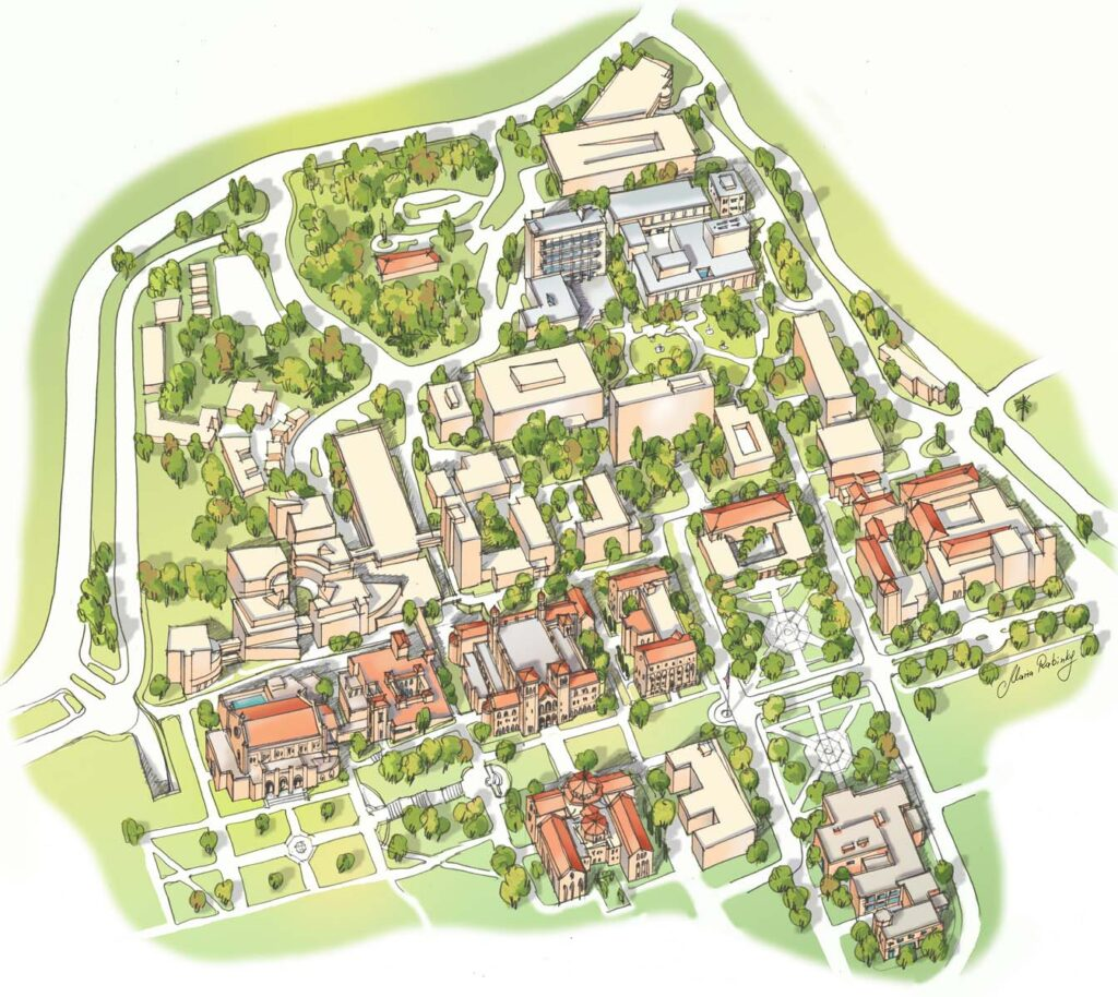 UCLA Arts Campus Map Illustration by Maria Rabinky