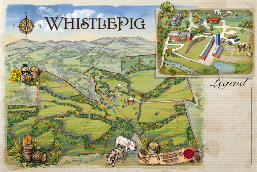 WhistlePig Farm Map Illustration by Maria Rabinky
