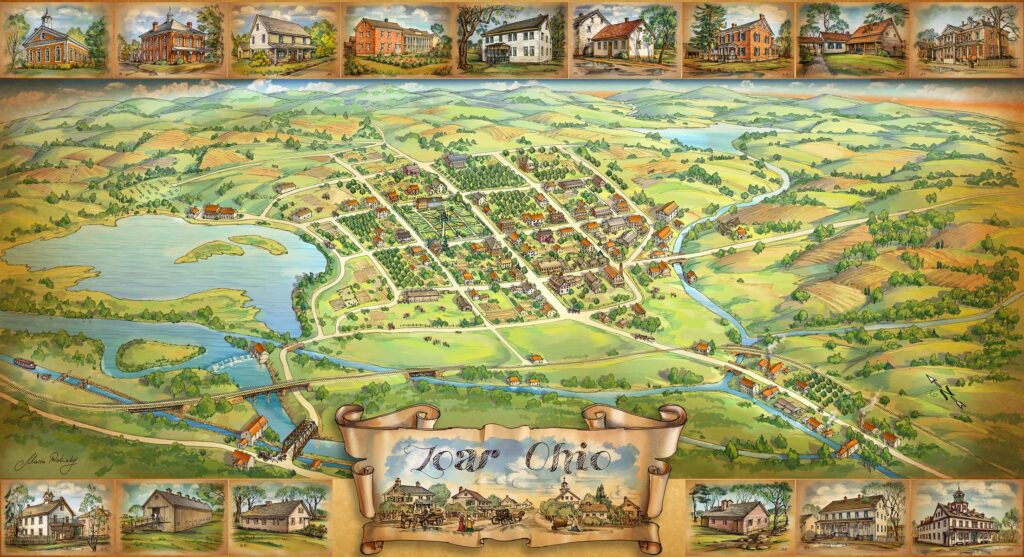 Zoar Village Map Illustration by Maria Rabinky