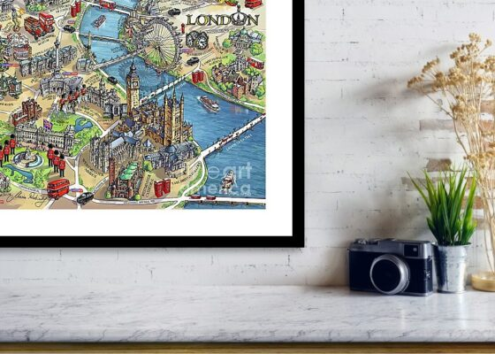 Illustrated map of London by Maria Rabinky