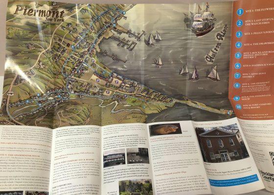 Map Illustration in brochure