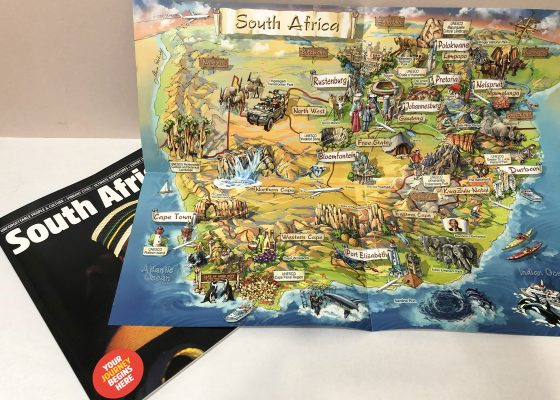 Illustrated Map of South Africa magazine