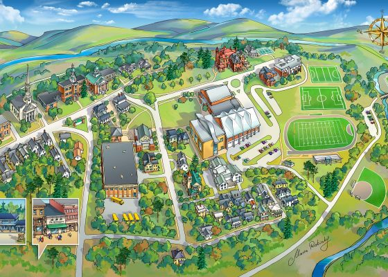 Campus Map Illustration