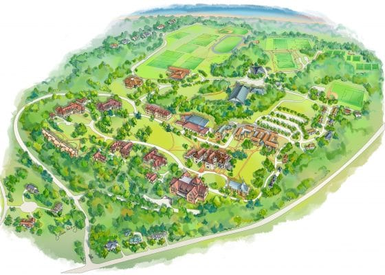 Westminster School Campus Map Illustration by Maria Rabinky