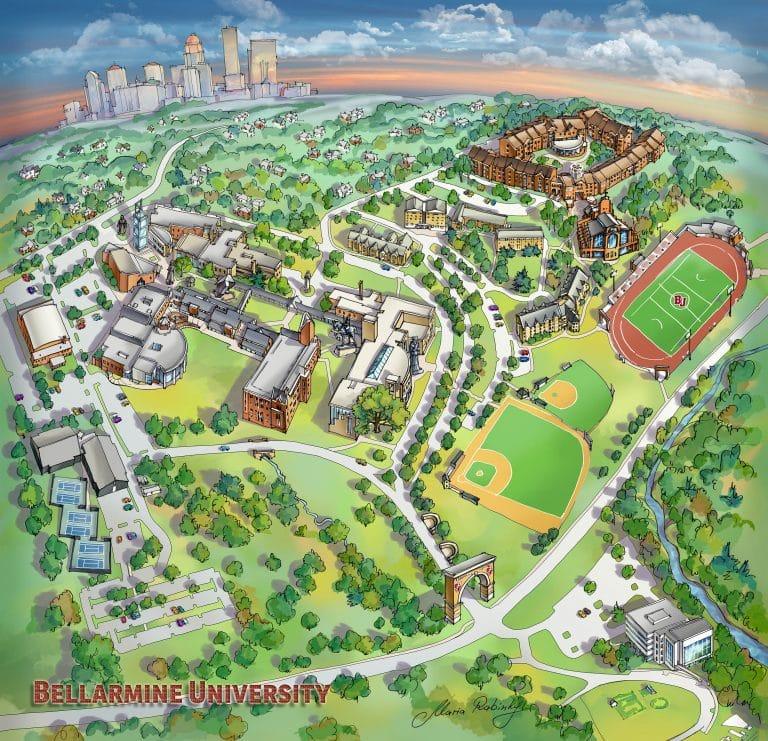 Campus Map Illustration