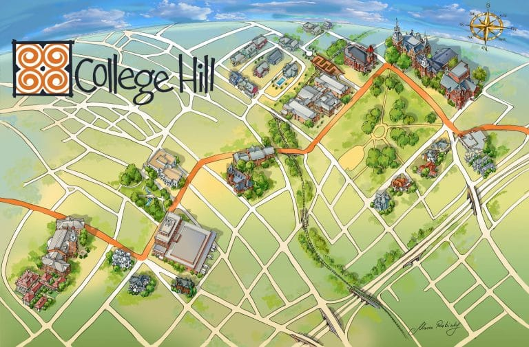Campus Map Illustration by Maria Rabinky